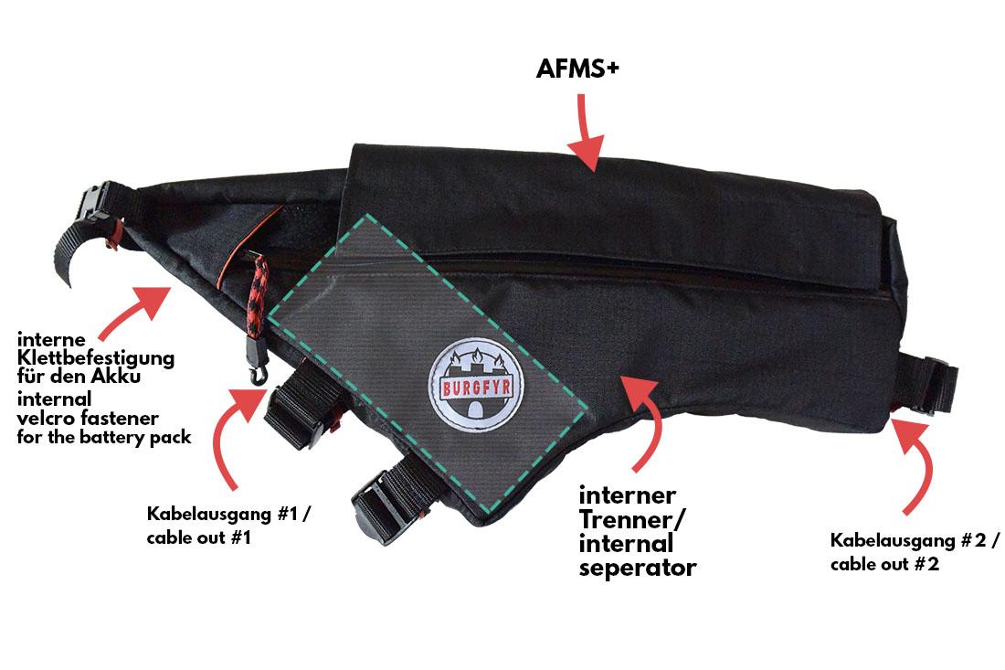 battery pack framebag ebike Akku Rahmentasche mit massig Features und Platz für den Akku