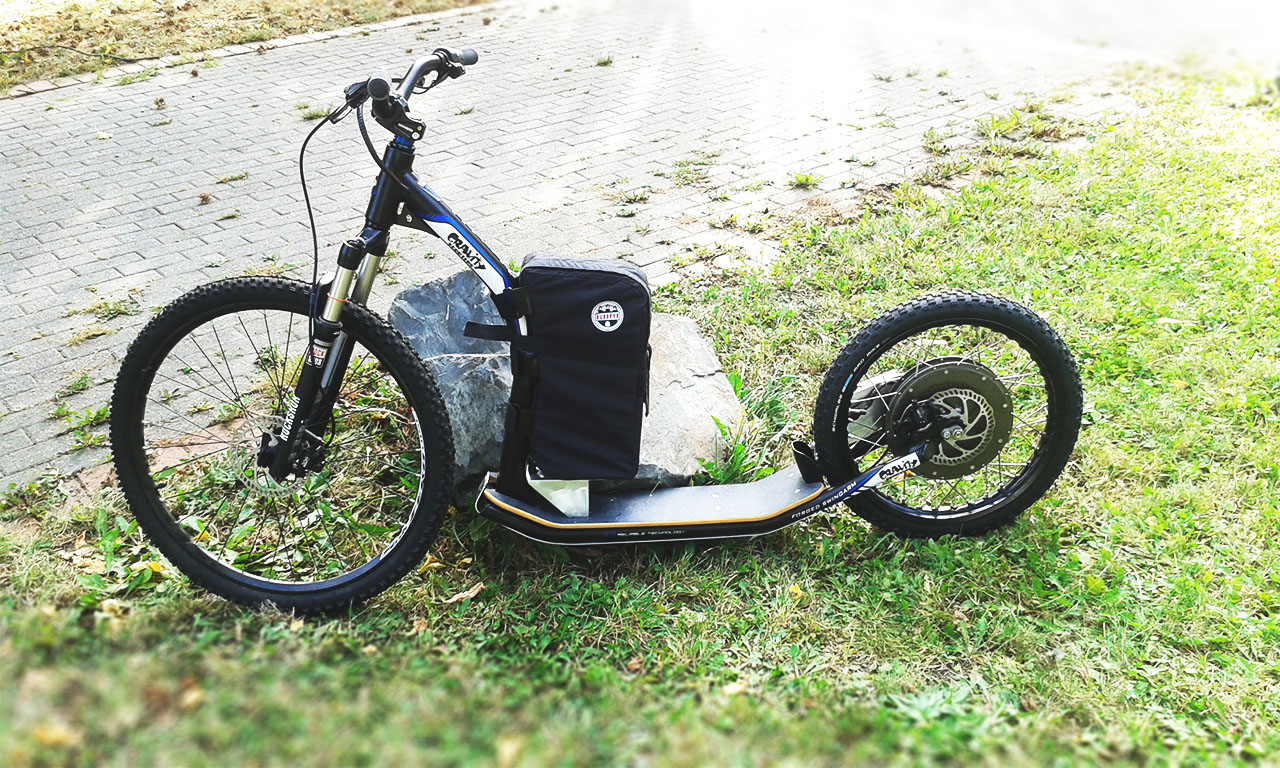 akku tretroller, akkutasche, battery bag, e-scooter, electric scooter